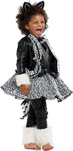 Gatto Kostüm Carnevale - Carnevale Venizano CAV53174-L - Kinderkostüm GATTA NERA LUSSO - Alter: 7-10 Jahre - Größe: L