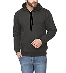 Scott International Full Sleeve Hooded Unisex Black Sweatshirt