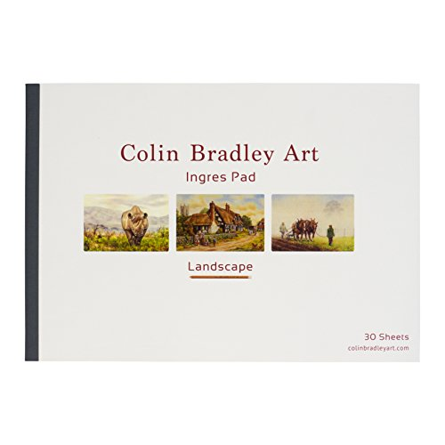 Fabriano Ingres Pastel Paper 30 Sheets A4 LANDSCAPE - Sand Colour - 160gsm - Double Sided - Two Textures - Perfect for Pastel Pencil Work - Excellent Colour for ALL subjects