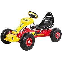 Ricco PB9788A Kart à pédale sur roues en caoutchouc pour enfant Rouge