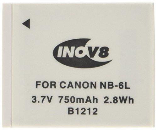 Inov8 R-C-B - Batteria agli ioni di litio di ricambio per fotocamera digitale Canon NB-6L, 2 pezz