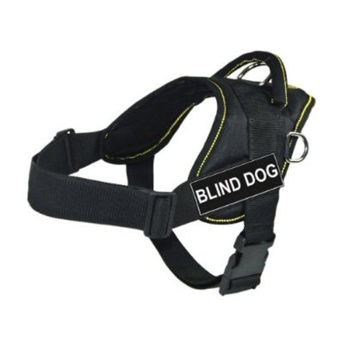 dt-fun-works-harness-blind-dog-black-with-yellow-trim-large-fits-girth-size-81cm-to-107cm