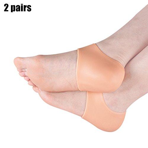 symboat 2Paar Ferse inkl. Silikon Gel Knöchel Unterstützung weiche Socken Fuß Muffe für das Erleichterung der OS Felsvorsprung (Ferse Sporn Der In Schmerzen)