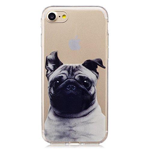 iPhone 7/iPhone 8 Coque, Voguecase TPU avec Absorption de Choc, Etui Silicone Souple Transparent, Légère / Ajustement Parfait Coque Shell Housse Cover pour Apple iPhone 7/iPhone 8 4.7 (SharPei 05)+ Gr SharPei 05