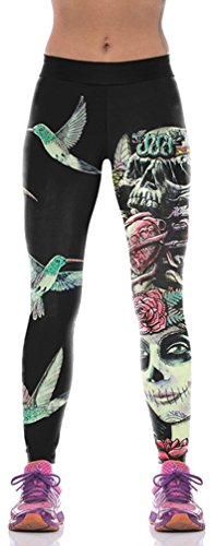 s mehrfarbig Muscle lines M Gr. M, Female Skeleton (Halloween-leggings)