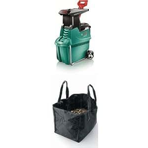 bosch axt 25 tc quiet shredder with collection bag cover bundle diy tools. Black Bedroom Furniture Sets. Home Design Ideas