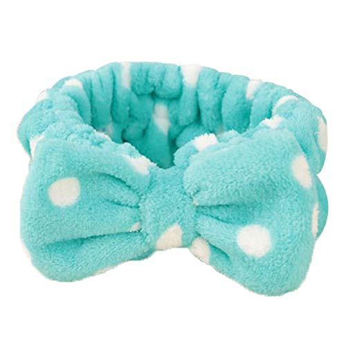 Hosaire 1x Haarschmuck Kreative Bowknot Stirnband Damen Haarband Haarschmuck Haar Wrap für Frau Make-up Gesichtsreinigung Gesichtspflege