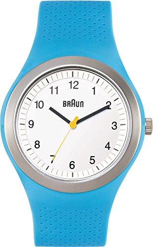 Braun BN0111WHBLG - Reloj analógico de cuarzo unisex con correa de silicona, color azul