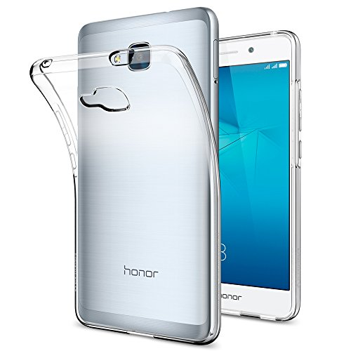 Coque Huawei Honor 5C, Spigen® [Liquid Crystal] **Euro-Fit** [Crystal Clear] Version Européenne, Premium TPU Silicone / Anti-choc / Mince / Transparen...