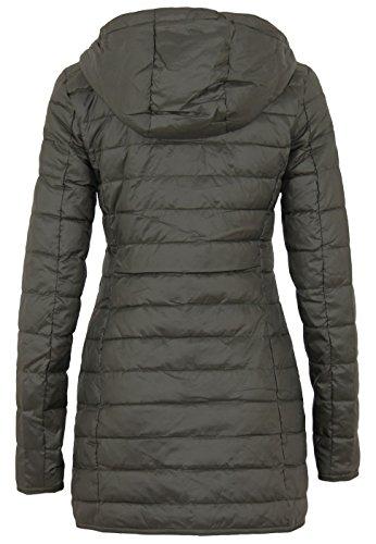 Only Onltahoe Quilted Contrast Coat Cc Otw, Manteau Femme, Bleu, X-Small Peat