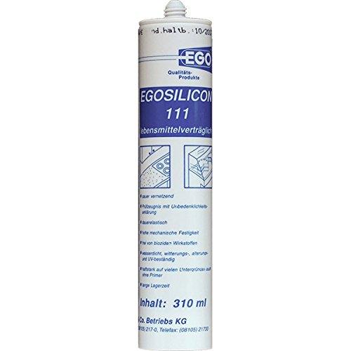 Grau-stack (EGOSILICON 111 Lebensmittel-Silikon, grau 310ml 3 Stück)