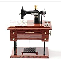 WCL Retro Nostálgico Máquina De Coser Music Box Music Box Home Living Room Decoration Adornos