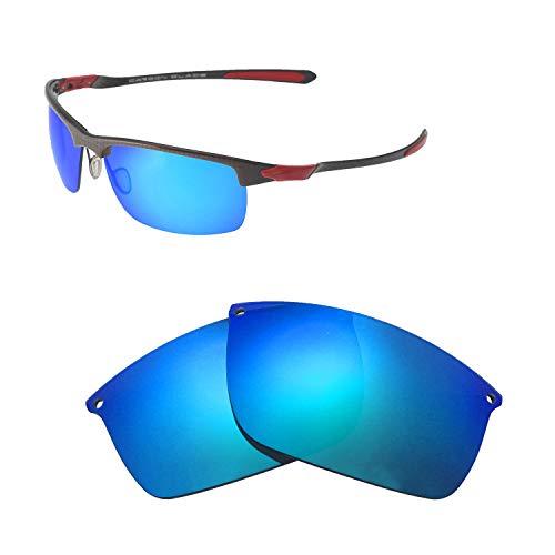 Walleva Ersatzgläser für Oakley Carbon Blade Sonnenbrille - Verschiedene Optionen erhältlich, Unisex-Erwachsene, Ice Blue Coated - Polarized, Einheitsgröße