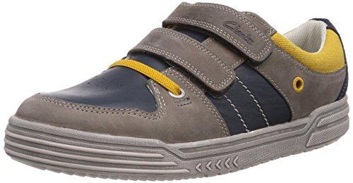 Clarks Chad Skate Jnr Jungen Sneakers Blau (Navy Combi Lea)