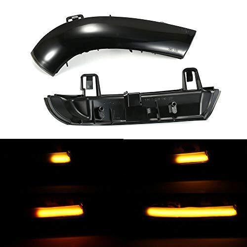 Boomersun LED Blinkerleuchten Dynamische Ein Paar Spiegelblinker Auto Schwarz Passgenau für Golf 5 Jetta MK5 Passat B6