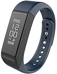 Fitness Tracker Fitness Armband Wireless Activity Wristband Waterproof IP67 Bluetooth 4.0 Smartwatch Bracelet with Sports Activity Tracker Sleep Monitor Calories Counter Pedometer Health Touch Screen for iPhone Android Mobile Phones