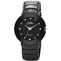 Hester California Mens,Boys Analogue Black Wrist Watch HC130