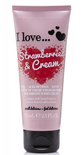 Strawberry Lotion (I Love... Strawberries & Cream Super Soft Hand Lotion 75ml)