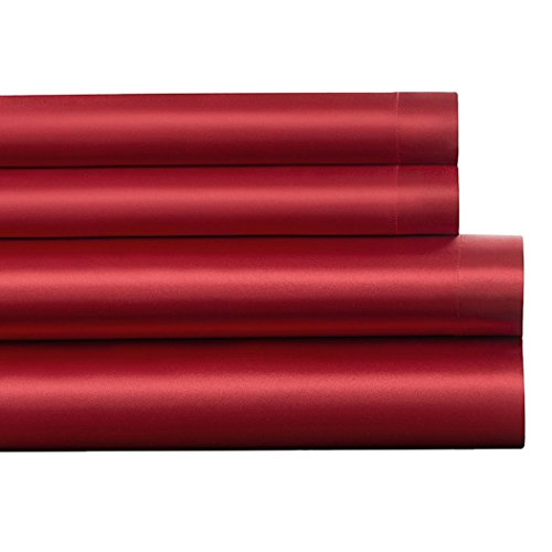 Bettwäsche Cover Set, outgeek 3Pcs Bettwäsche Set Luxus Seide Tailliert Blatt Decke Abdeckung Kissen Sham (Twin Size) (Bett-kissen-decken-könig Size)