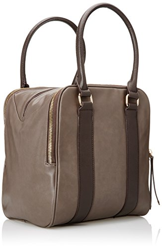 GAUDÌ Damen Handbag-Linea Amber-cm.26x30x21 Henkeltasche, 26x30x21 cm Grigio (Greige)