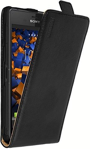 mumbi PREMIUM Leder Flip Case für Sony Xperia Z3 Tasche schwarz