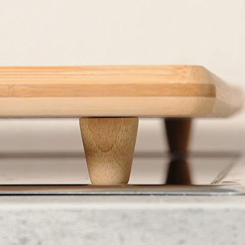 Kesper Schneide-/Abdeckplatte Bambus, Holz, Braun, cm, 56 x 50 x 4 cm - 5