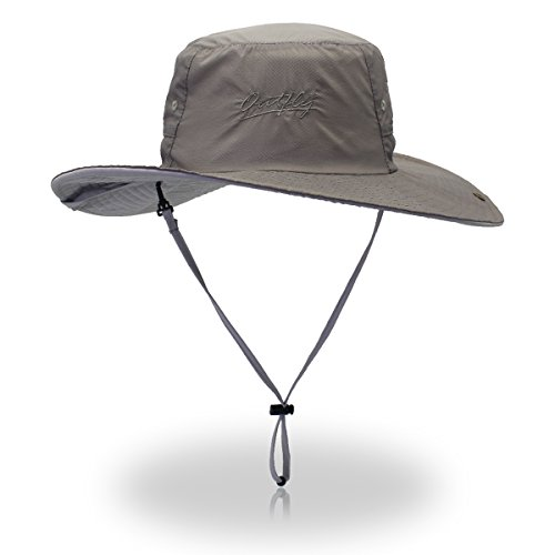 29a0f2400 Outfly Ultra Lightweight Bucket Hat Sun Protection Fishing Hat Wide Brim  Quick-Dry UV50+,Grey