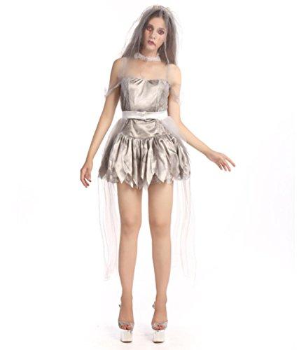 DuuoZy Paar Erwachsene Halloween Schreckliche Zombie Kostüm Cosplay Outfits Für Weibliche und Männlich, Female, ()