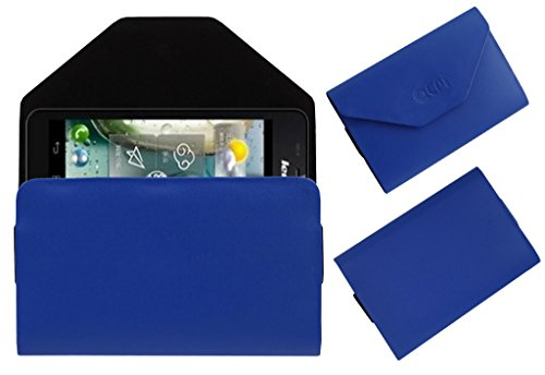 Acm Premium Pouch Case For Lenovo P770 Flip Flap Cover Holder Blue  available at amazon for Rs.179