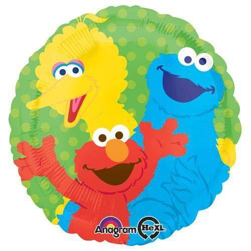 Anagram Folienballon 2999802Sesam Street Bande, 45,7cm farbenreiche