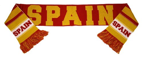 Spain Espana World Cup Soccer Authentic Country Wordmark Scarf Bufanda