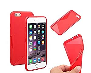 Lightest Apple Iphone 6 / 6s Red Case S-Line Wave TPU Flexible Silicone Gel Case Cover For Apple iPhone 6s