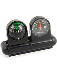 COCHE brújula termómetro viajar al aire libre soporte bola negra