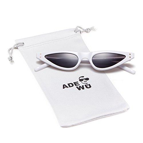 ADEWU Piccoli occhiali da sole Cat Eye retrò xE7yT