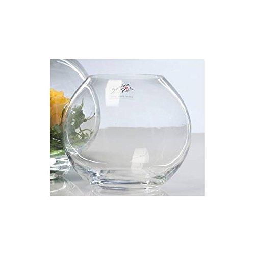 Glasvase Kugel Vase Glas Blumenvase Tischvase rund ca. 10 cm