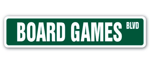 Board Games Street Sign Player Chess Checkers Lover Monopoly-| | 45,7 cm Breit