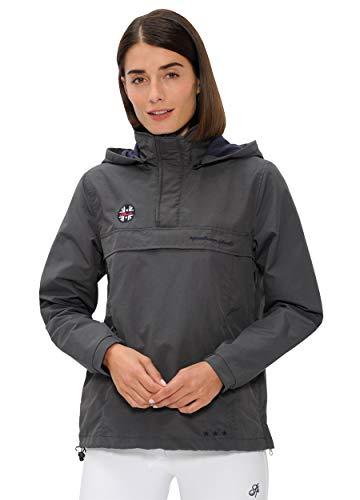 SPOOKS Damen Jacke, leichte Damenjacke mit Kapuze, Herbstjacke - Joy Windbreaker Dark Grey L