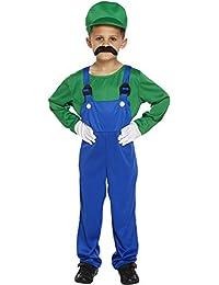 Disfraz para niños de Luigi verde trabajador talla L edades ...