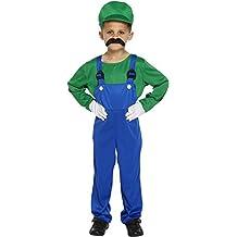 Disfraz para niños de Luigi verde trabajador talla L edades 10-12