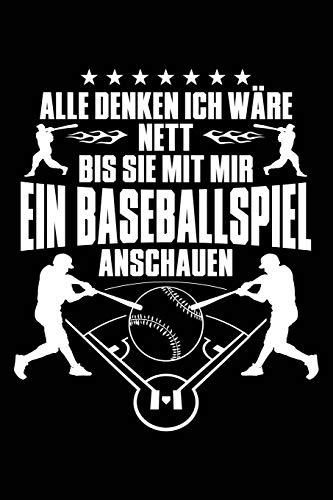 Nett bis Baseballspiel: Notizbuch für Baseball Baseballer-in Baseballspieler-in Baseball-Fan