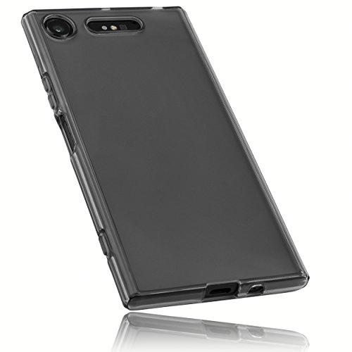 mumbi Hülle kompatibel mit Sony Xperia XZ1 Handy Case Handyhülle, transparent schwarz