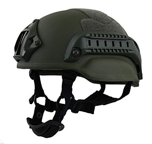 BEST protection Komplettset Gefechtshelm Gunfighter Helmet KSK Farbe Sand, Größe S/M (54-57) -