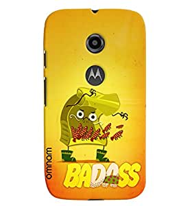 Omnam Badaas Printed With Eagerness Designer Back Cover Case For Moto E2
