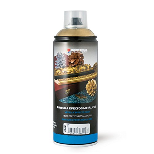 Montana Colors MTN Industrial Spray Oro Cromado 400ml - Spray con Efectos Metálicos, Oro Cromado, 400 ml