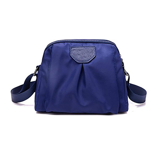 LINGE-Spalla di sport casual Oxford di MS Messenger bag , rose red Blue