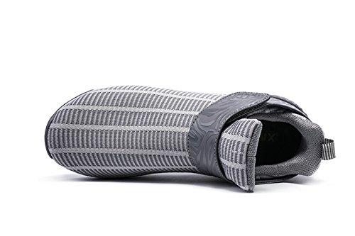 Onemix Unisex Air Scarpe da Ginnastica Corsa Uomo Sportive Running Donna Sneakers Fitness Interior Casual all'Aperto Grigio
