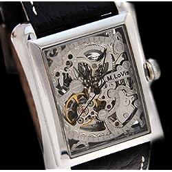 Monte Lovis - Elegant Skeleton Wrist Watch - Classic men's accessory in modern design - automatic clock