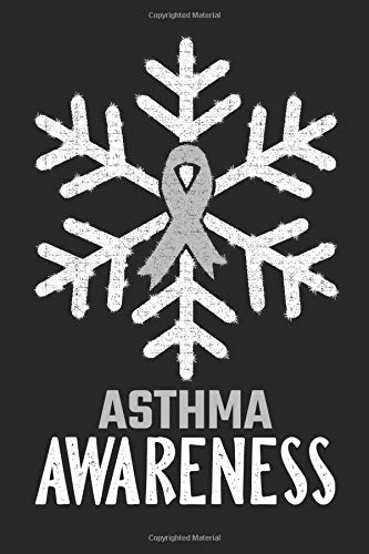Asthma Awareness: Christmas Snowfall College Ruled Asthma Awareness Journal, Diary, Notebook 6 x 9 inches with 100 Pages