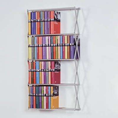 Stretch-design (Patte Design STRETCH DVD-Regal/Bücher-Regal kurz/breit ca. 128 DVD/66 Bücher)
