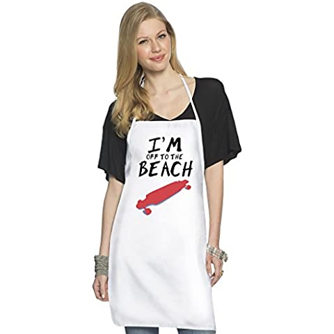 Off to the beach Grembiule da Cuoco Top Quality Chef's Apron| Custom Printed| Available In 2 Sizes For Women & Men| 100% Durable Polyester| Premium Kitchen Supplies For Bars/Bistros & Home By Hamerson